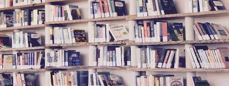 本が並ぶ本棚