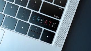 新商品を開発するためのパソコン