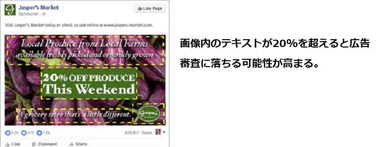 Facebook広告のテキスト量