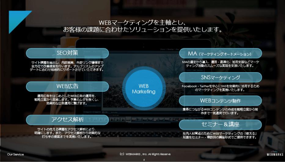 WEBMARKSのサービス